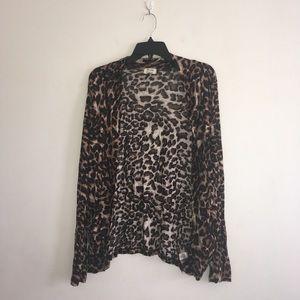 Sweaters - Cheetah Print Cardigan